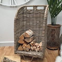 Rattan Log Trolley from The Farthing