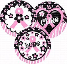 Breast Cancer Awareness 2 Bottle Cap Images 4x6 by designsbyPM, $2.00