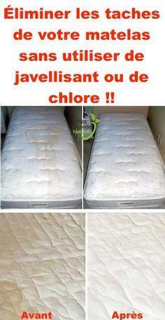 Éliminer les taches de votre matelas sans utiliser de javellisant ou de chlore.