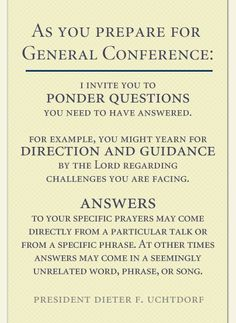 Great idea for preparing for General Conference Broadcast of the Church of Jesus Christ of Latter-day Saints!  Love it!
