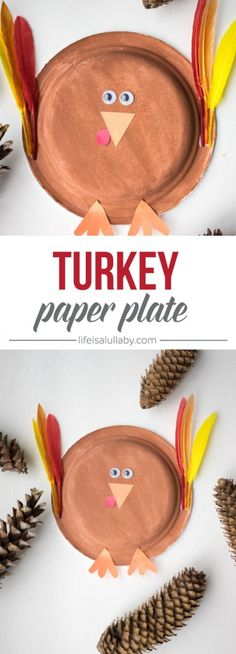 This Thanksgiving Paper Plate Turkey craft is soo cute and easy to do!