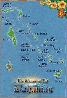 Bahamas map TAKE ME BACK TO ABACO
