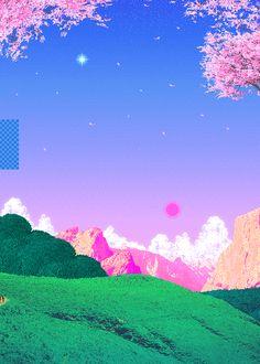 cameos.tumblr.com vaporwave 8 bit pixel art