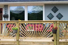 make your deck unique with a sunburst deck railing, decks, diy, woodworking projects