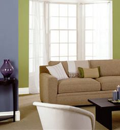 idea: buy neutral furniture, and change wall color to change mood of room!  would allow us to buy furniture as we go before actually picking a house.