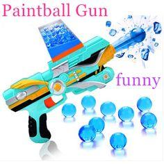 Anak Mainan Senjata Paintball Gun Peluru Lembut Pistol Mainan Plastik inframerah CS Permainan Shooting Kristal Air Gun Pistol Bullet Gratis pengiriman