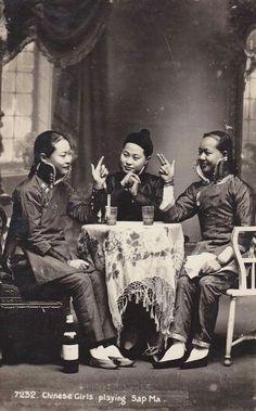 Chinese girls in Malaya