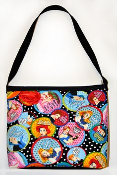 Keep it Sassy Retro Purse with Red Rose - Sabbie's Purses and More