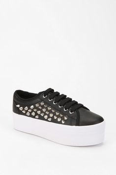 Jeffrey Campbell. ZOMG Leather Platform Sneaker.  I have the perfect outfit for these!  At least in my dreams!  ^(,^