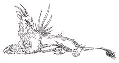The keythong is a heraldic beast resembling a gryphon with no wings. Like the more familiar gryphon, a keythong has the body of a lion and the head and forelegs of an eagle. Instead of wings, it sp…