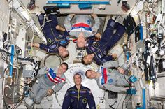 The Expedition 38 crew of the International Space Station poses for an in-flight crew portrait in the Kibo laboratory of the International Space Station on Feb. James Hetfield, Nasa Photos, Nasa Astronauts, International Space Station, Space Photos, Space Program, Space Exploration, Science And Nature, Activities For Kids