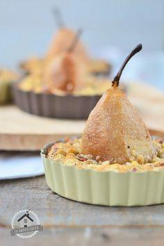 In Tee pochierte Birnen Tarte - Tea Poached Pear Tarte | Das Knusperstübchen