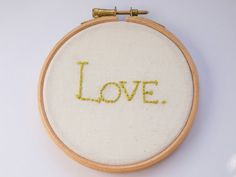 LOVE framed embroidery by Hextrovert on Etsy, Love Frames, Hoop, My Etsy Shop, Cross Stitch, Crafting, Embroidery, Prints, Handmade, Art