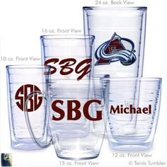 Colorado Avalanche Personalized Tervis Tumblers