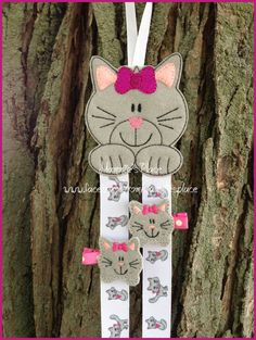 Kitty Cat  Clip  Keeper and  or Hair Bow Holder by MammiesPlace, $8.50