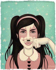 """Sarah's Mustache Finger"", by Tara McPherson"