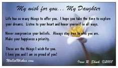 Proud Daughter Poem | Family - Wallet Wishes