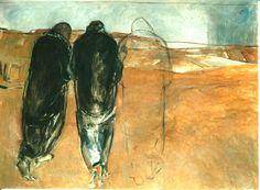 Road To Emmaus by Janet Brooks Gerloff Monks Of Norcia, Catholic Mass Readings, Lucas 24, Road To Emmaus, Jesus Art, Jesus Christ, Risen Christ, Bible Pictures, Biblical Art
