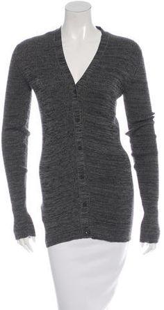 Prada Rib Knit V-Neck Cardigan Women's V Neck Sweaters, V Neck Cardigan, Cardigans, Sweaters For Women, Rib Knit, Prada, Knitting, Stylish, Tops