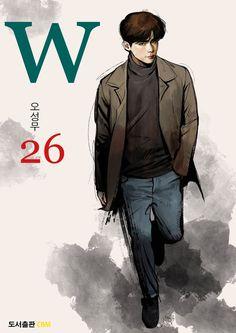 W (더블유) — MANHWA 26 W Korean Drama, Korean Art, Asian Actors, Korean Actors, Lee Jong Suk Doctor Stranger, W Kdrama, Ver Drama, Kang Chul, Bride Of The Water God