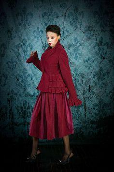 Steampunk victorian tinker coat dress