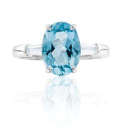 Aquamarine Coloured Stone Rings, Gemstone Colors, Wedding Rings, Jewels, Gemstones, Engagement, Diamond, Jewerly, Gems