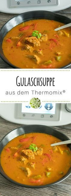 Gulaschsuppe aus dem Thermomix® Goulash soup always works! She makes at dinner or at any party for full and happy bellies. Suitable for Thermomix® Goulash soup from TherA hearty goulash soupColorful salad from the Ther Crock Pot Recipes, Soup Recipes, Chicken Salad Recipes, Healthy Salad Recipes, Chicken Soup, Easy Salads, Easy Meals, Goulash Soup, Greens Recipe