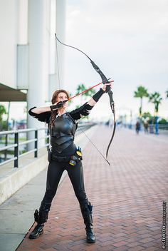 Katniss Everdeen (from Hunger Games) #cosplay | Long Beach Comic & Horror Con 2013 #ComicCon #Cosply
