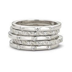 One Kiss™ Diamond Stackable Rings