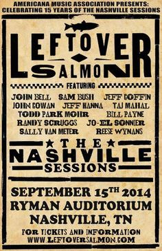 Leftover Salmon at The Ryman Auditorium Nashville @robdickens101.com