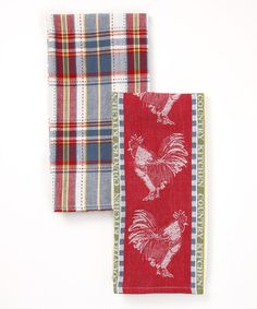 Take a look at this Country Kitchen Dish Towel Set by Design Imports on #zulily today!