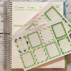 NEW! March Monthly Write-On Full Box Stickers for Erin Condren Life Planner/Plum Paper Planner - Set of 16