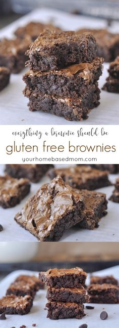 Gluten free brownies - everything a brownie should be.
