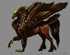 """A Hippogriff is a legendary creature, supposedly the offspring of a griffin and a mare. The reason for its great rarity is that griffins regard horses as prey. A medieval expression: """"to mate griffins with horses"""" meant the same as the modern expression """"When pigs fly"""".The hippogriff was therefore a symbol of impossibility and love."""