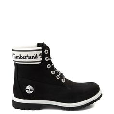 Womens Timberland 6 Premium Boot - Black And White Timberland Boots Womens White Timberland Boots, White Timberlands, Timberland Classic, Timberland Waterproof Boots, Timberland 6, Timberlands Women, Timberlands Shoes, Oxfords, Timbs Outfits