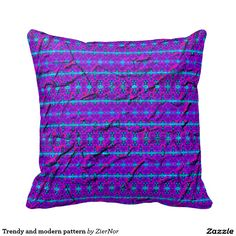 Trendy and modern pattern throw pillows