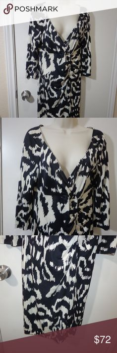 DVF Silk Dress Size 12 very gently used, no holes or stains.   100% silk  armpit to armpit 18  length 39 10/21- Diane von Furstenberg Dresses
