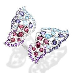 NYC II® 5.54ctw Multi Gemstone Cut-out Butterfly Ring