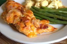 Cheesy Bacon Chicken - 5 ingredients Shared on http://www.facebook.com/LowCarbZen