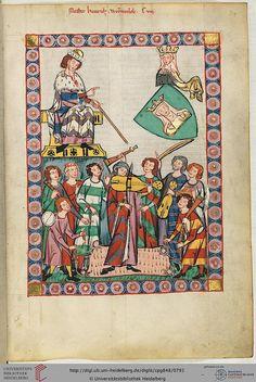 Cod. Pal. germ. 848: Große Heidelberger Liederhandschrift (Codex Manesse) (Zürich, ca. 1300 bis ca. 1340), Fol 399r