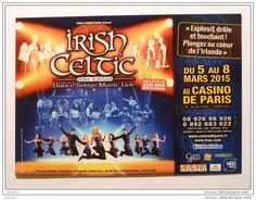DANSEUR / IRISH CELTIC - Danse irlandaise / Spirit of Ireland - Carte publicitaire spectacle