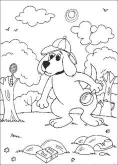 Desenhos para colorir para crianças. Desenhos para imprimir e colorir Clifford 33