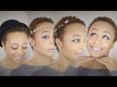 7 TWA Hairstyles on Natural Hair - YouTube