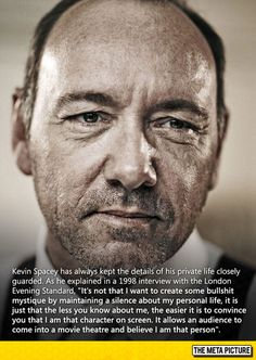 Why Kevin Spacey Maintains A Private Life