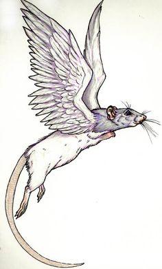 Ratwings, flying rat by GrimVixen on DeviantArt