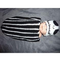 Nightmare Before Christmas Crochet Baby Cocoon