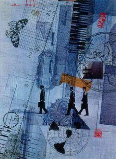 Blue - Fred Otnes collage