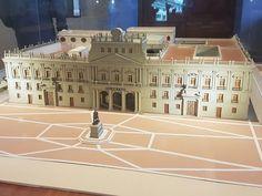 Maqueta, palacio de Minería, colegio de ingeniería.