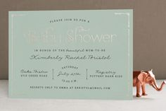 Blushing Brunch Foil-Pressed Baby Shower Invitations by carly reed walker at minted.com