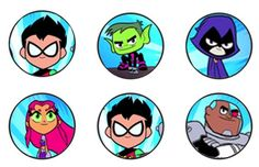 Free Teen Titans Go Cupcake topper file! | Daisy Celebrates!